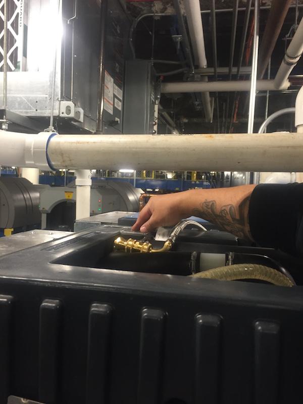 installing AcornVac vacuum plumbing system